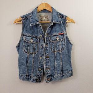 Lucky Brand Vintage Denim Jean Vest
